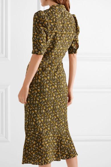 6268b39b0 Veronica Beard   Pike floral-print silk crepe de chine midi dress ...
