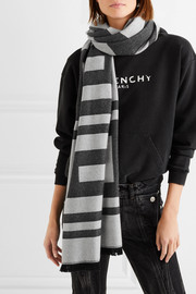 Givenchy Wool and cashmere-blend jacquard scarf
