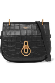 Amberley small croc-effect leather shoulder bag