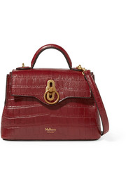 Mulberry Micro Seaton croc-effect leather tote