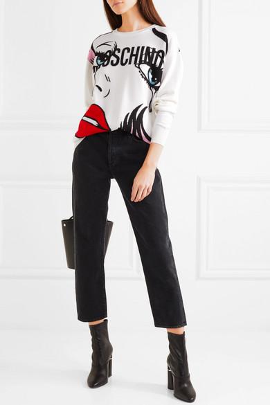 Billig Verkaufen Mode Moschino Wollpullover mit Intarsienmotiv Shop-Angebot Verkauf Online Online Gehen Rabatt Authentisch sqDBjvUQQF