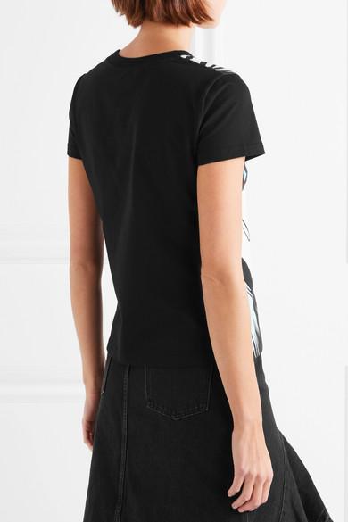 Bedrucktes T Shirt Moschino Moschino Jersey Baumwoll Bedrucktes Stretch aus 1Bxzawq