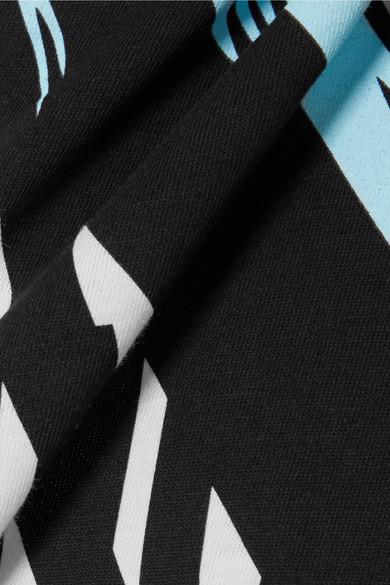 Moschino Bedrucktes T-Shirt aus Stretch-Baumwoll-Jersey