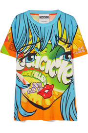 Moschino Printed stretch-cotton jersey T-shirt