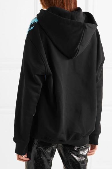 Moschino Oversized-Kapuzenoberteil aus bedrucktem Stretch-Jersey aus Baumwolle