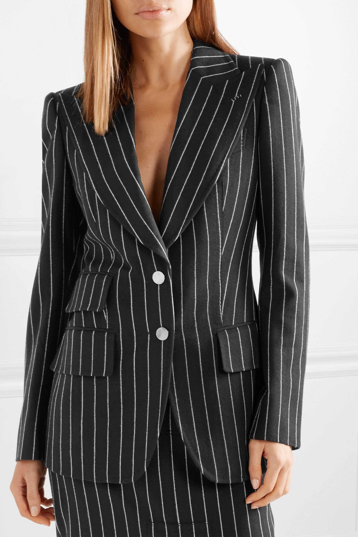 TOM FORD Pinstriped wool-twill blazer
