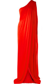 TOM FORD One-shoulder draped jersey gown