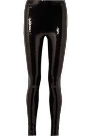 TOM FORD Sequined stretch-jersey leggings