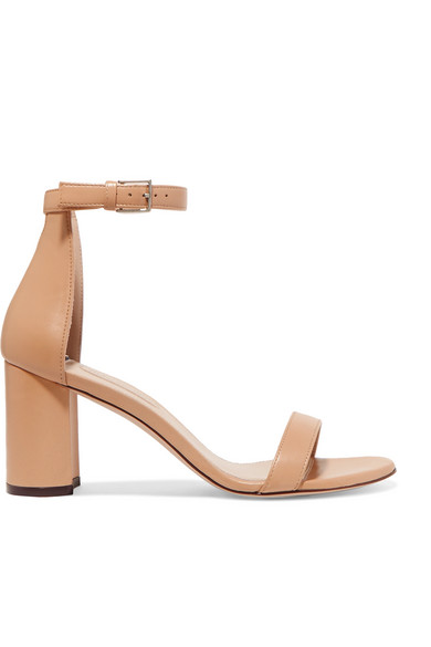 Less Nudist Leather Sandals by Stuart Weitzman