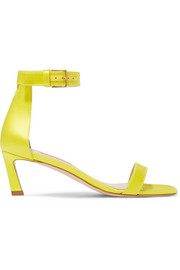 SquareNudist satin sandals