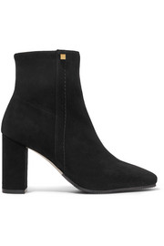Solo stretch-suede ankle boots