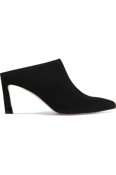 STUART WEITZMAN Women'S Mira Suede High-Heel Mules in Black