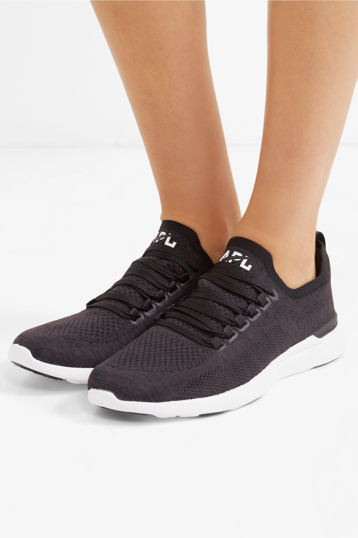 Black TechLoom Breeze mesh sneakers