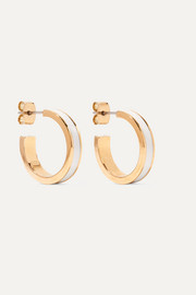 Isabel Marant Gold-tone and resin hoop earrings