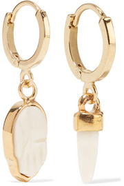 Isabel Marant Gold-tone bone earrings
