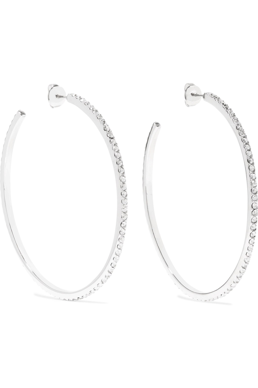 Isabel Marant Silver-tone crystal hoop earrings