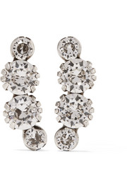 A Wild Shore silver-tone crystal earrings
