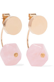 Isabel Marant Gold-tone quartz earrings