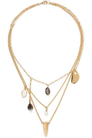 Isabel Marant Gold-tone multi-stone necklace
