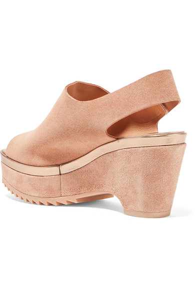 Pedro Garcia Felipa Suede Slingback Wedge Sandals - IT40.5 Purchase Sale Geniue Stockist Buy Cheap Footaction Official Online Outlet Nicekicks rD2xpYNJVi