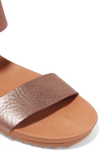Sandales En Cuir Texturé Métallisées JaliaPedro Garcia N296A