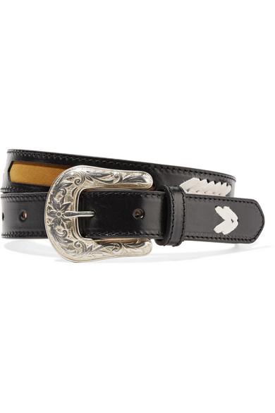 Isabel Marant Belts Tigoo embroidered leather belt