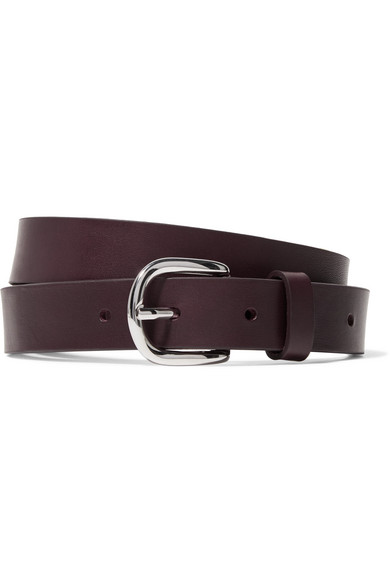 Zap Leather Belt - Burgundy Isabel Marant KC6ot
