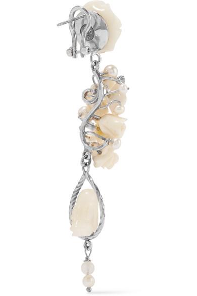 Of Rare Origin Nesters White Vermeil Multi-stone Earrings - Silver hOkd3xI1