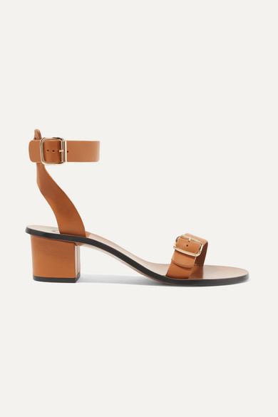 ATP ATELIER Carmen Leather Sandals in Tan