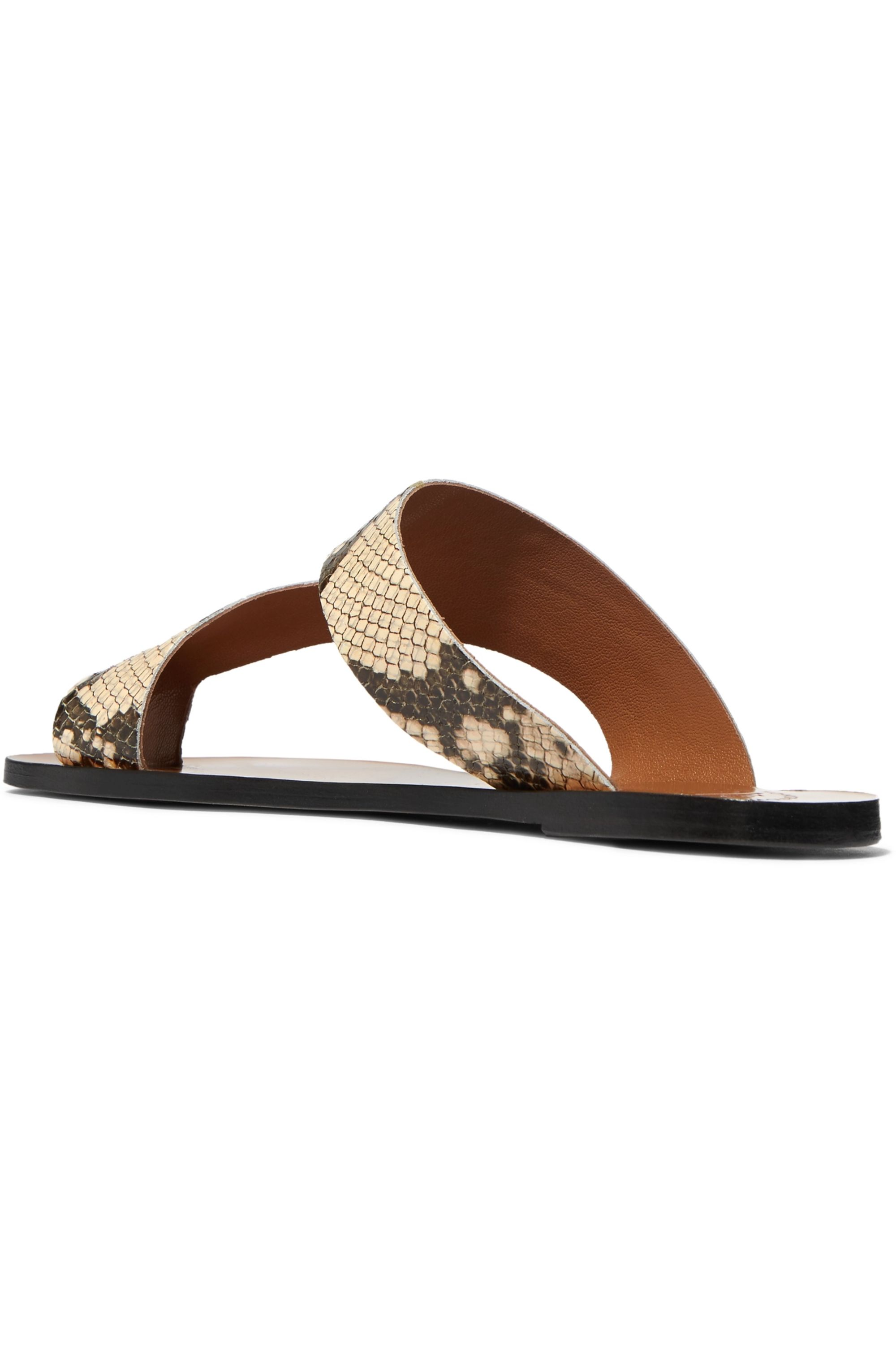ATP Atelier Roma snake-effect leather sandals
