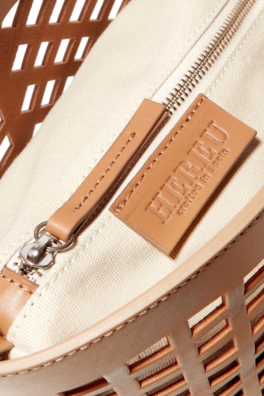 HEREU Colmado cutout leather tote