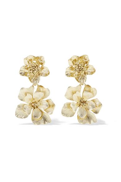Gold-plated Clip Earrings - one size Oscar De La Renta 4SqSARyP