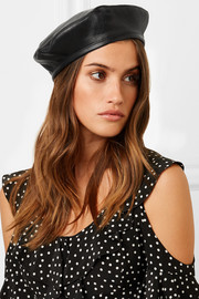 Cher leather beret