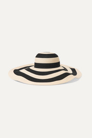 Sunny striped paper-blend sunhat