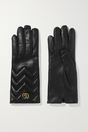 Gucci Marmont quilted leather gloves