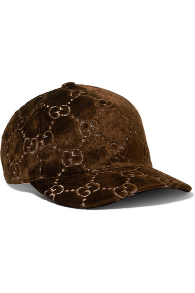Gucci Metallic Velvet-Jacquard Baseball Cap In Brown  033f68d043f