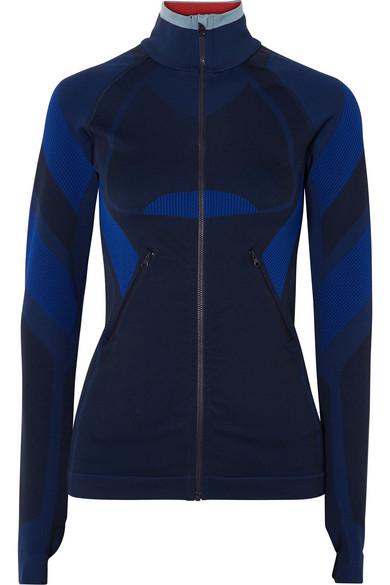 LNDR - Spright Paneled Stretch-knit Jacket - Navy
