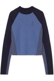 Snug color-block merino wool sweater