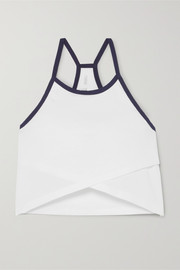LNDR Cheer cropped organic cotton-jersey tank