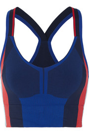 Trigger color-block stretch-knit sports bra