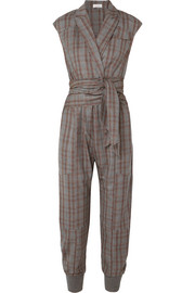 Prince of Wales checked wool jumpsuit