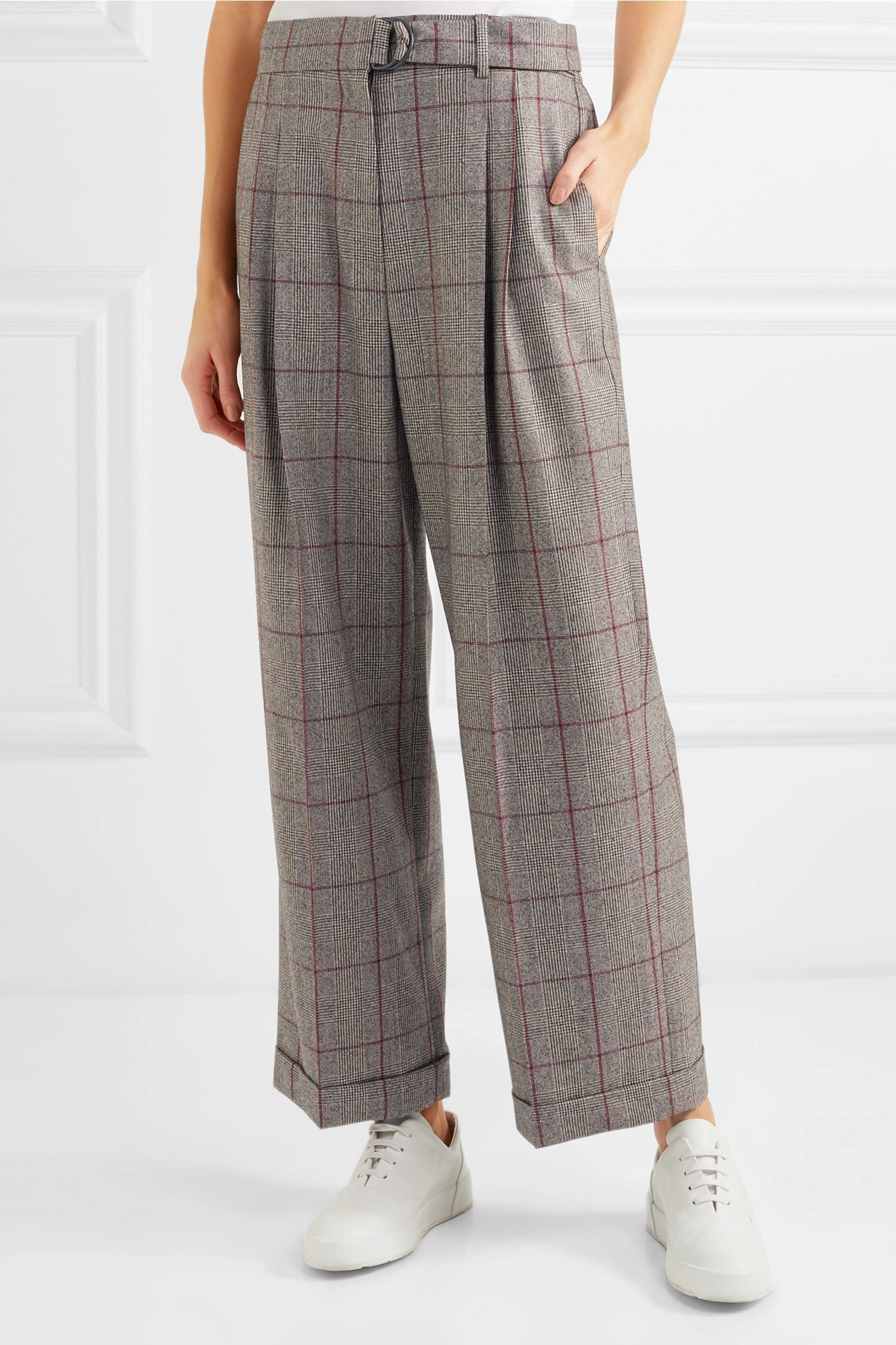 Brunello Cucinelli Prince of Wales checked wool pants