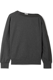 Brunello Cucinelli Embellished cotton-blend jersey sweatshirt