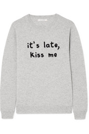 Chinti and Parker Kiss Me intarsia cashmere sweater