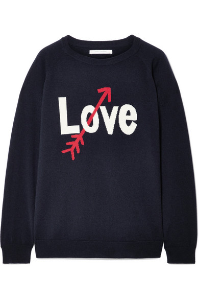 a1703b4fe3260e Chinti and Parker | Love Arrow intarsia cashmere sweater | NET-A ...