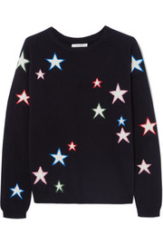 Chinti and Parker 3D Star intarsia cashmere sweater
