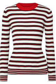 Chinti and Parker Striped ribbed cotton sweater