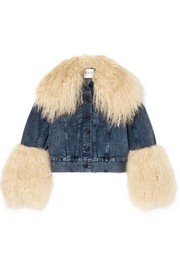 Jocelyn shearling-trimmed denim jacket