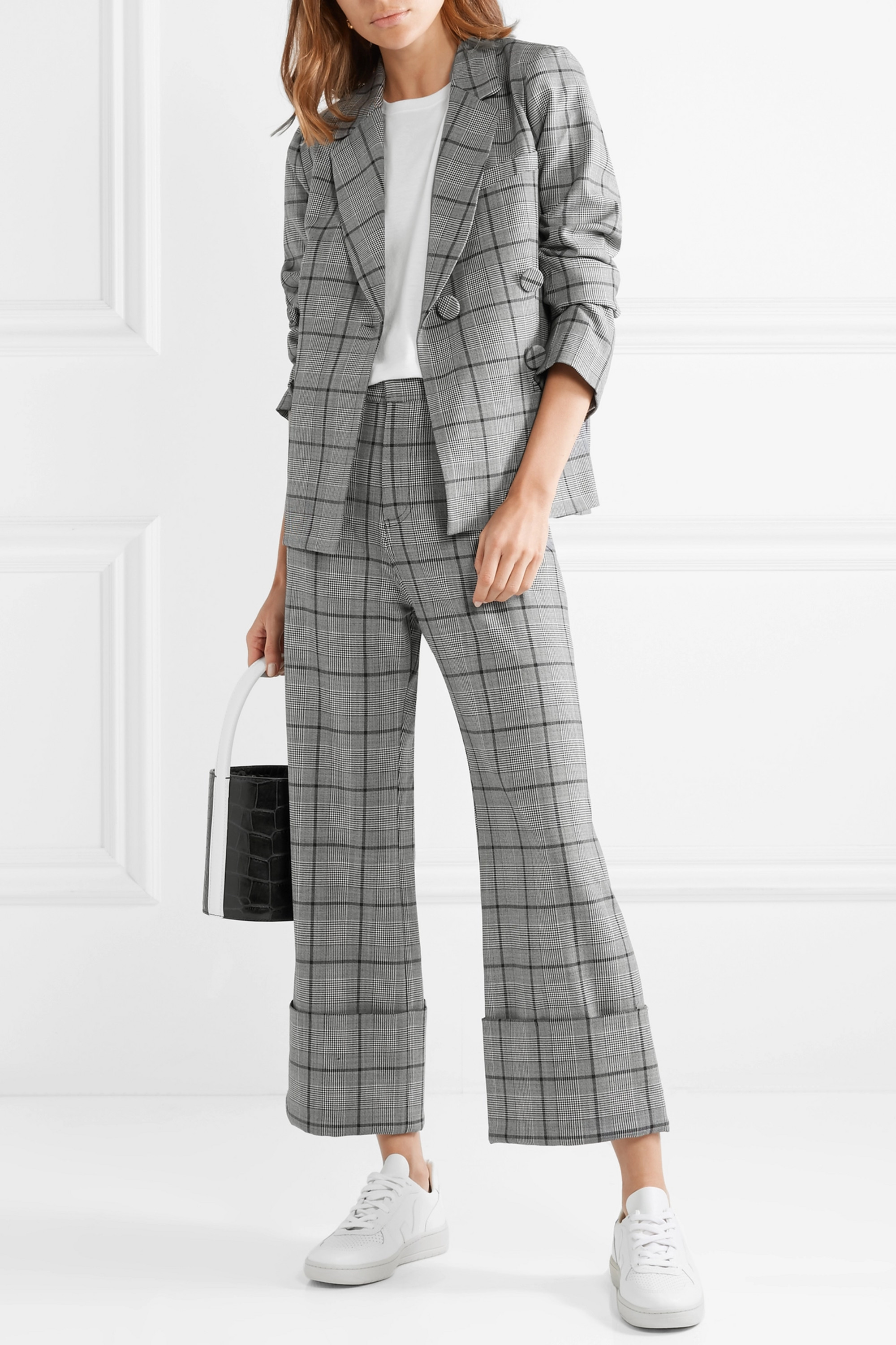 Sea Bacall checked woven blazer