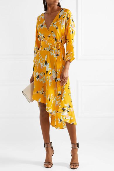Diane von Furstenberg | Eloise floral-print silk wrap dress